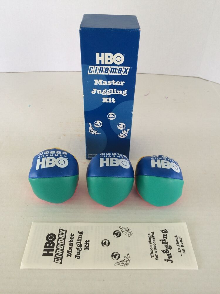 hbo cinemax promotional 1996 master juggling kit home box office cinemax rare ebay. Black Bedroom Furniture Sets. Home Design Ideas