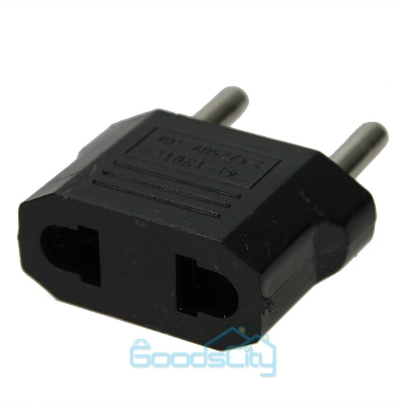 usa to eu euro europe power jack wall plug converter. Black Bedroom Furniture Sets. Home Design Ideas