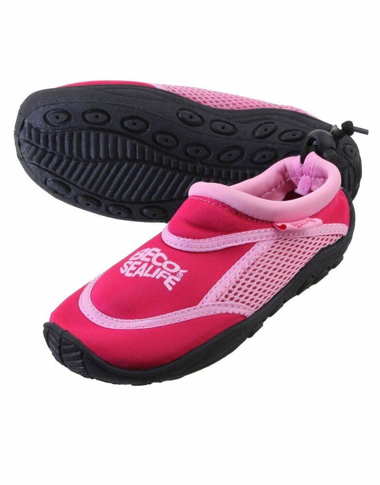 Beco Sealife Swim Shoes Childs Kids Foot Protection Pink Pool Beach Size Uk 13 1 Ebay