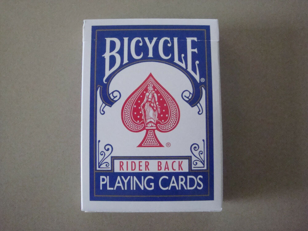 Blank Face Blank Back Bicycle Deck Poker Size Gaff Playing