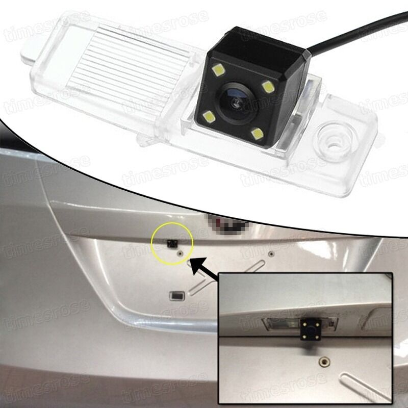 4 Led Ccd Car Rear View Camera Reverse Backup For Nissan