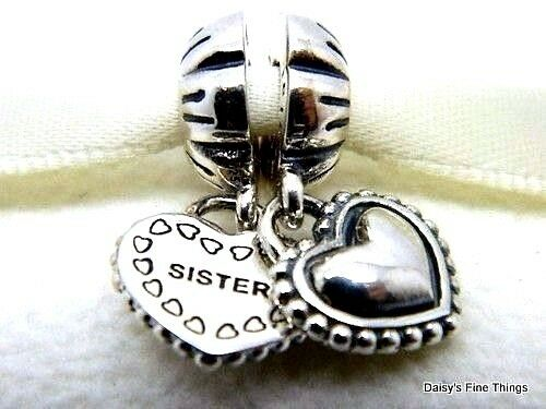 New   Authentic Pandora Charm My Special Sister  791383 P