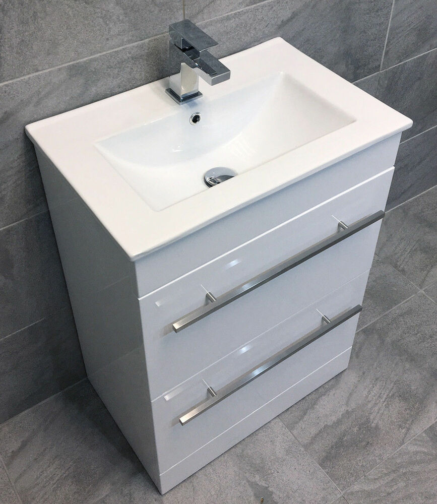 Savu 600mm Square Vanity Unit Amp Ceramic Basin Sink