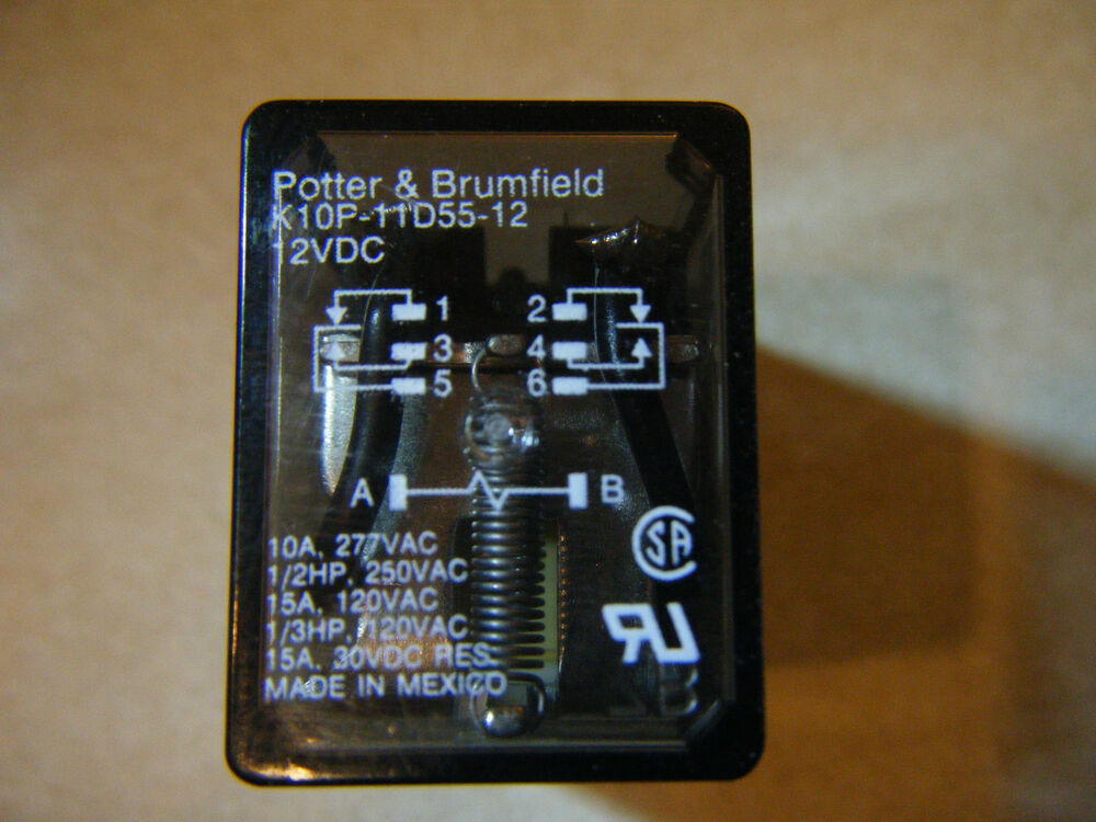 New Potter Brumfield K10p 11d55 12 Power Relay 8 Pin 12vdc