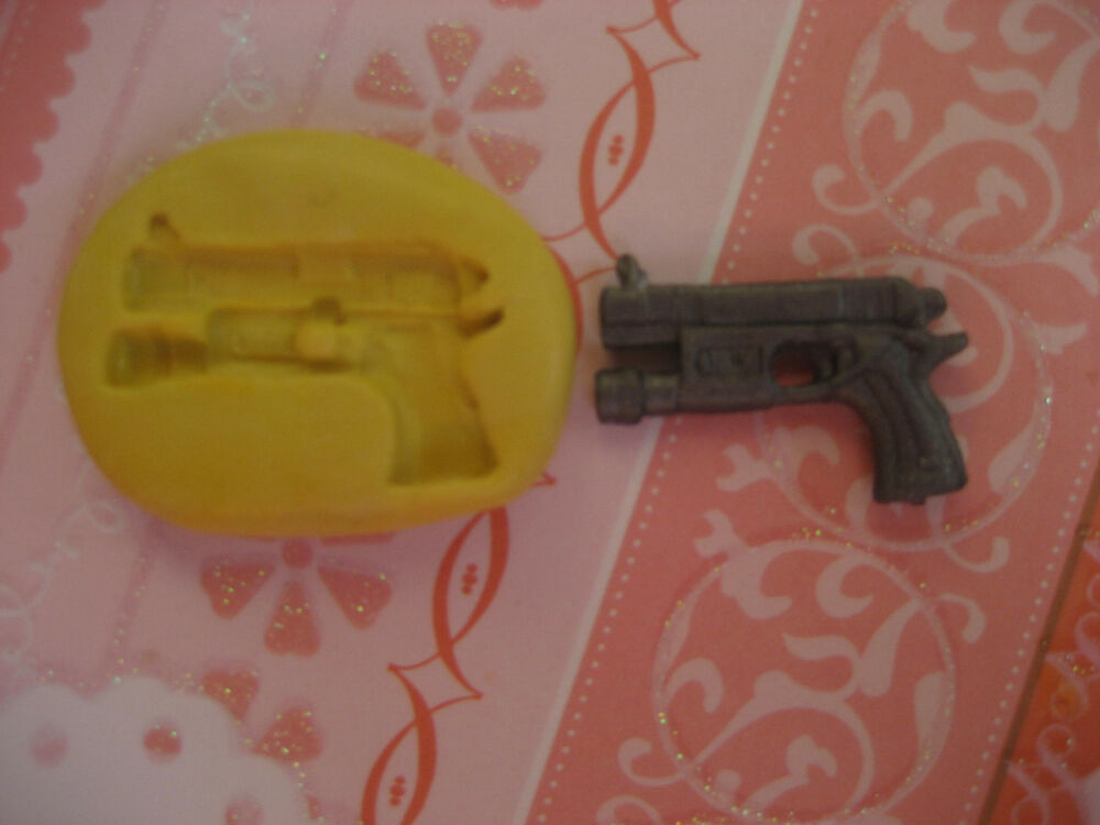 Small pistol gun 22mm flexible silicone mold for chocolate ...