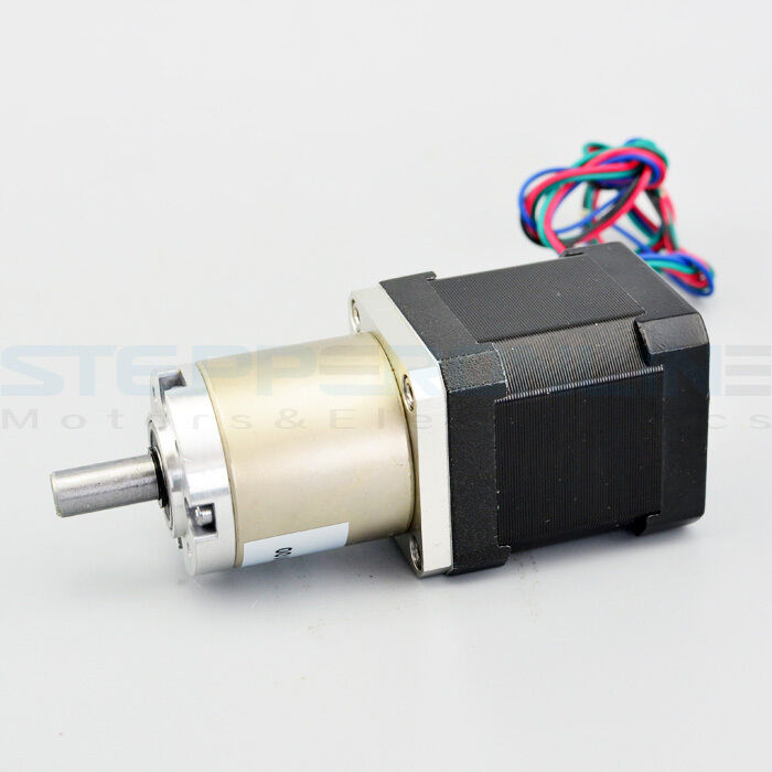 100 1 planetary gearbox osm nema 17 stepper motor low for Stepper motor gear box