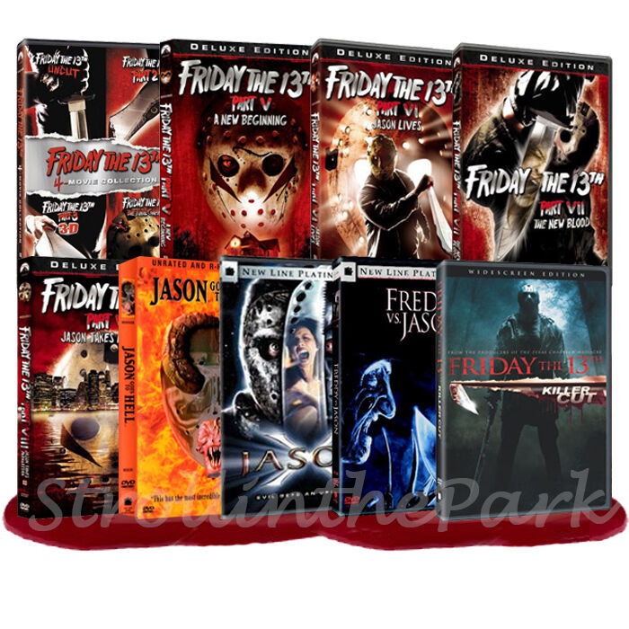 Friday the 13th jason x complete movies series 1 12 box for Film maroc chambra 13 complet