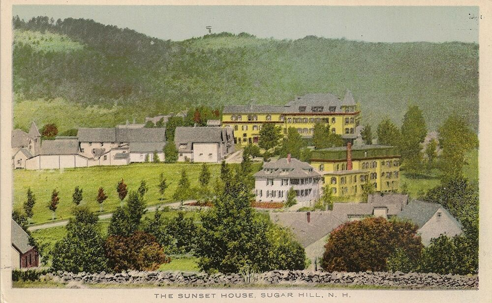 the sunset house sugar hill nh postcard ebay. Black Bedroom Furniture Sets. Home Design Ideas