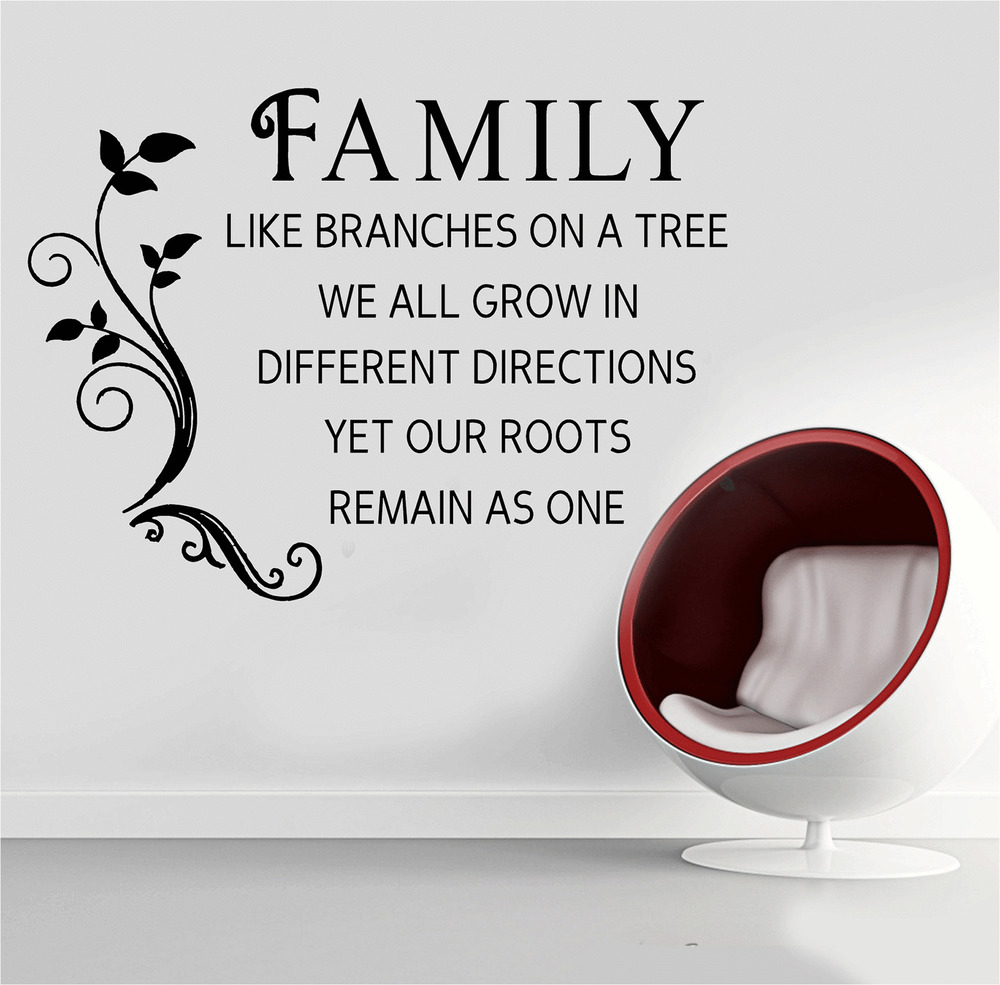 Sq Quote Family Wall Quote Stickers Uk  Home Design  Mannahatta