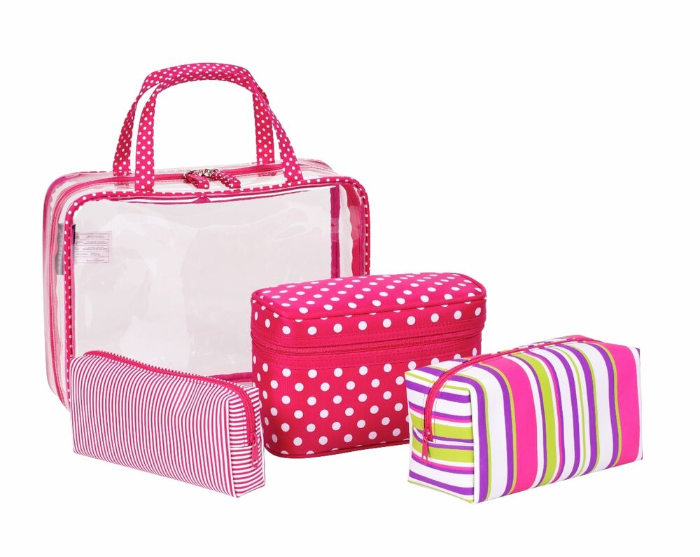 Ladies Toiletry Bags. Beauty. Makeup. Tools & Accessories. Ladies Toiletry Bags. Showing 40 of results that match your query. Search Product Result. Product - Zodaca Household Essentials Hanging Travel Women Cosmetic Bag Makeup Case Pouch Toiletry Organizer [10