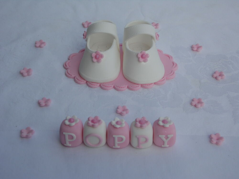 Cake Toppers For Baby Girl Christening : BABY SHOES CAKE TOPPER DECORATION CHRISTENING/BIRTHDAY ...