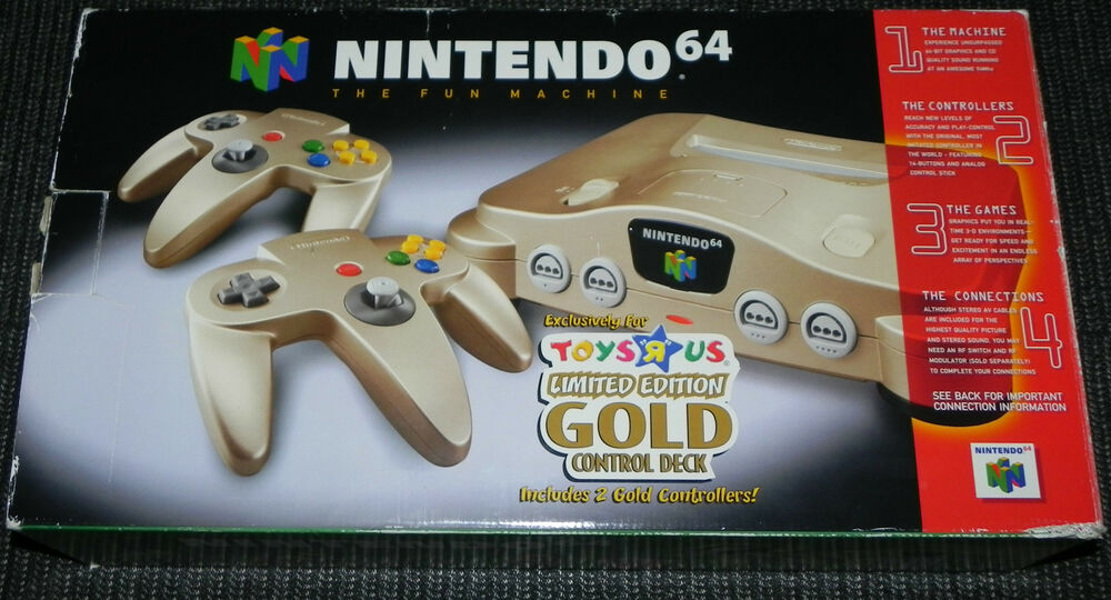 Rare nintendo 64 toys r us limited edition gold console in - How much is a super nintendo console worth ...