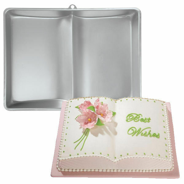 wilton two mix book cake pan aluminum birthday baby shower graduation
