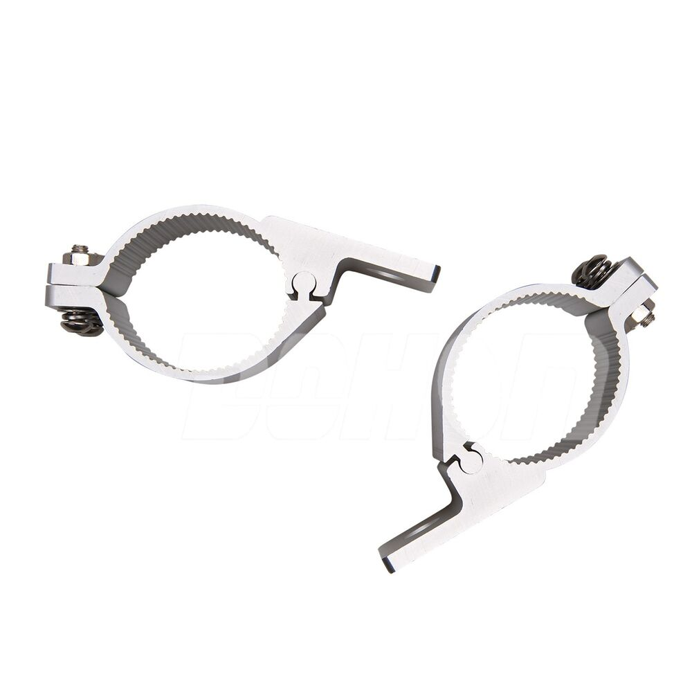 Pair clamps round tube mounting brackets holders mm