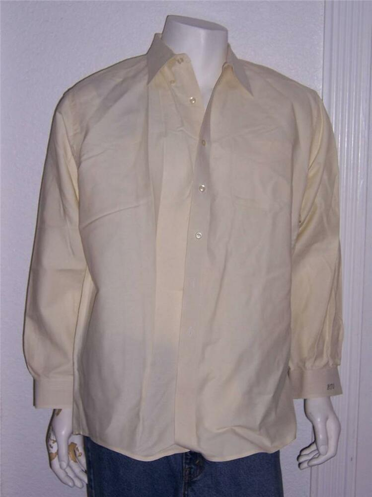 Mens l l bean yellow long sleeve dress shirt size 17 1 2 for 20 34 35 dress shirts
