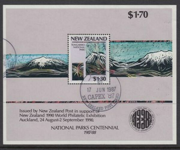 new zealand 1987 m s national parks id mu829 ebay. Black Bedroom Furniture Sets. Home Design Ideas