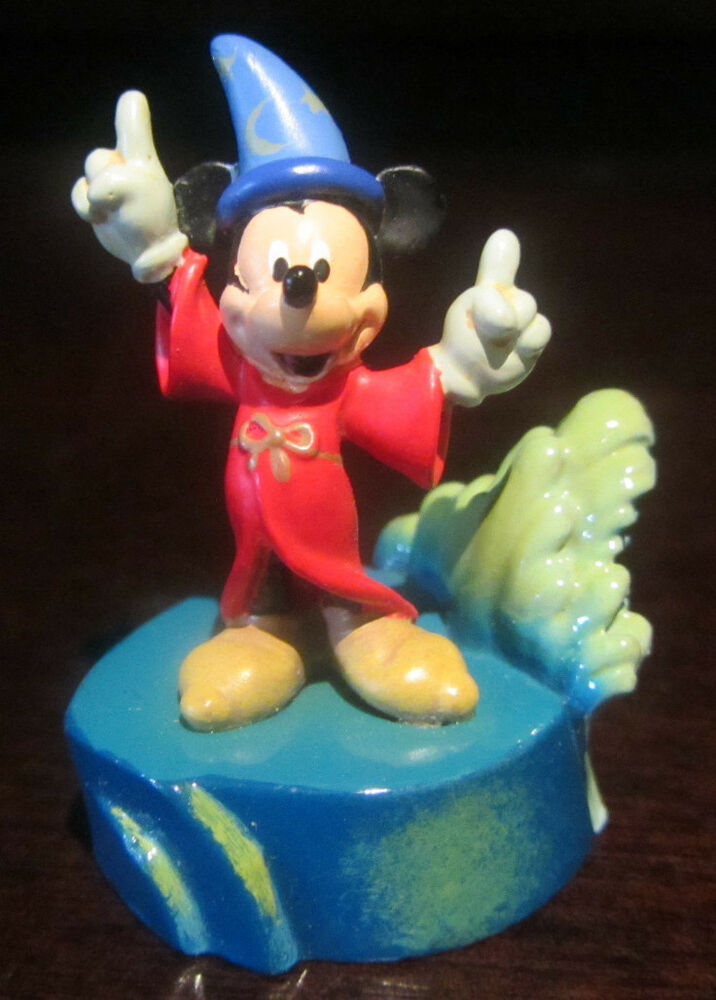 Rare disney store catalog le pewter fantasia sorcerer mickey mouse figure statue ebay - Disney store mickey mouse ...