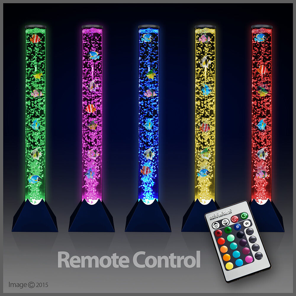 Remote Control Colour Changing LED Bubble Fish Water Tower ...