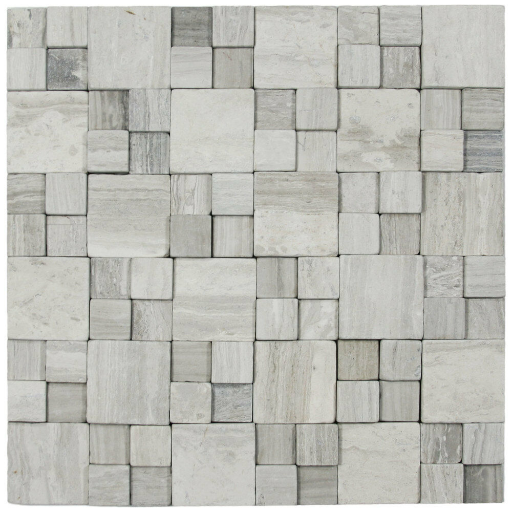 3d Light Grey Blocks Stone Tile Great For Walls