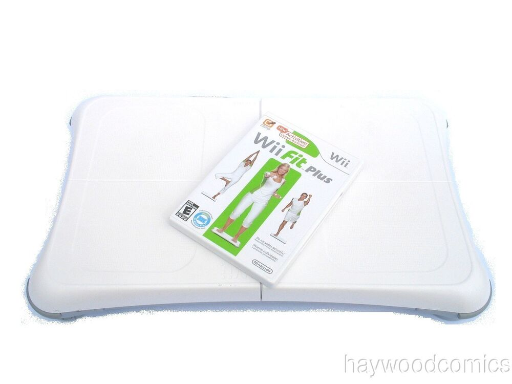 nintendo wii balance board with wii fit plus game ebay. Black Bedroom Furniture Sets. Home Design Ideas