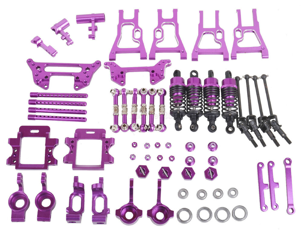 upgrade parts package for hsp rc 1 10 electric nitro on road drift car purple ebay. Black Bedroom Furniture Sets. Home Design Ideas