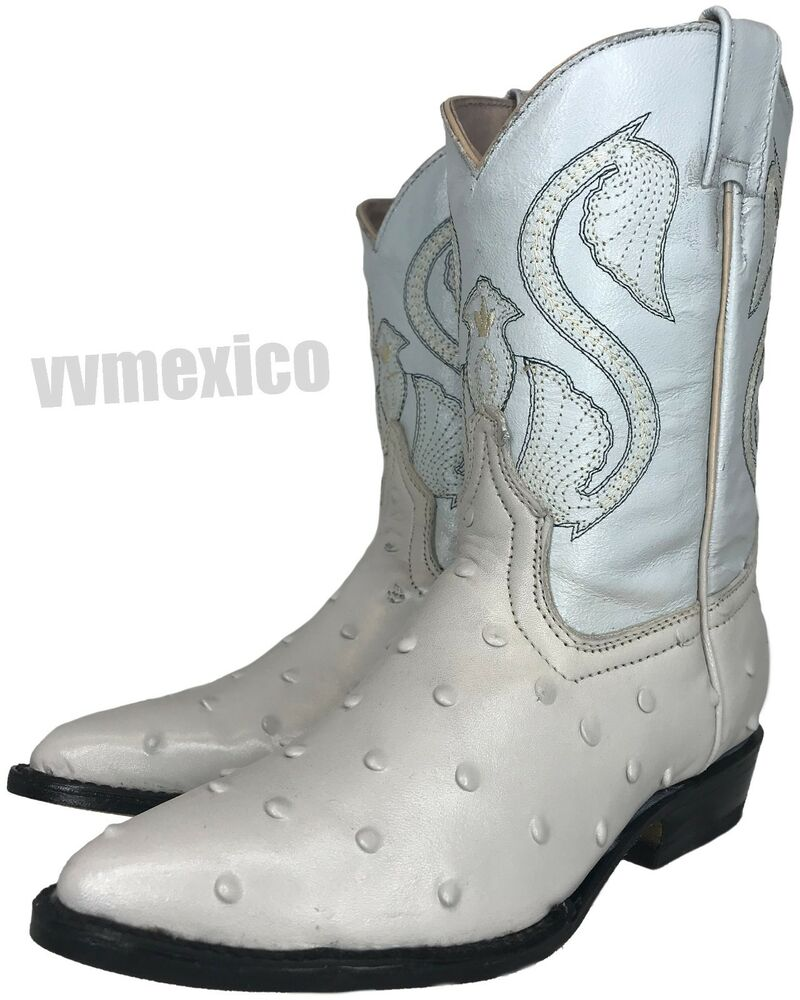 leather cowboy boots for toddler boys white
