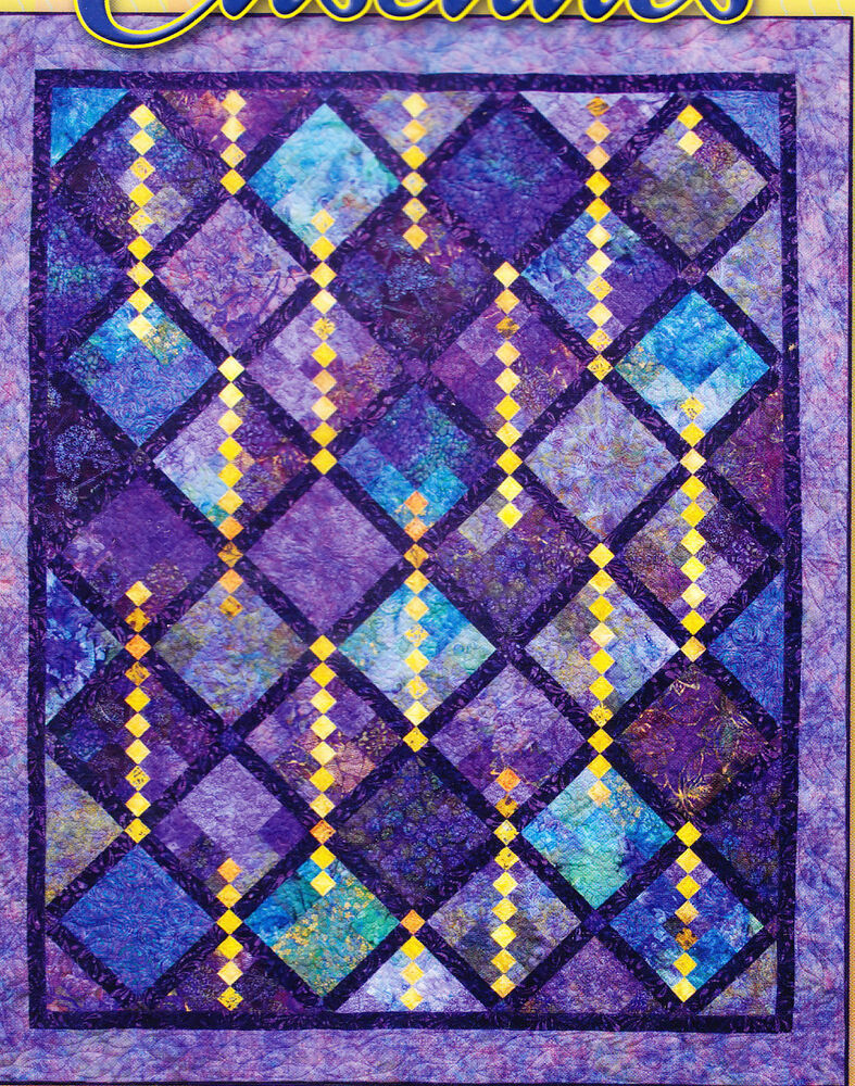 Cascades - wonderful pieced quilt PATTERN - fat quarter friendly eBay