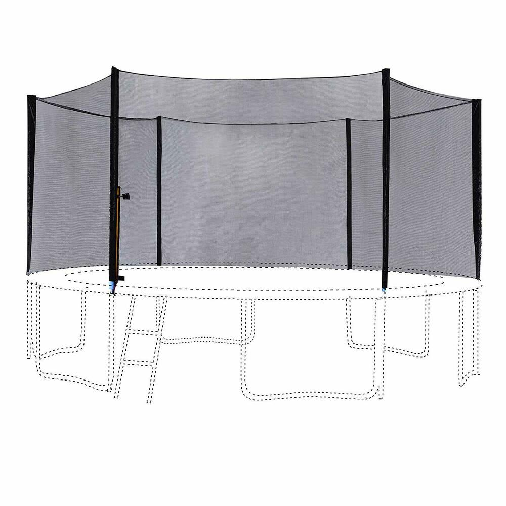 12' FT Trampoline Outer Safety Net Enclosure 6 Poles 6180