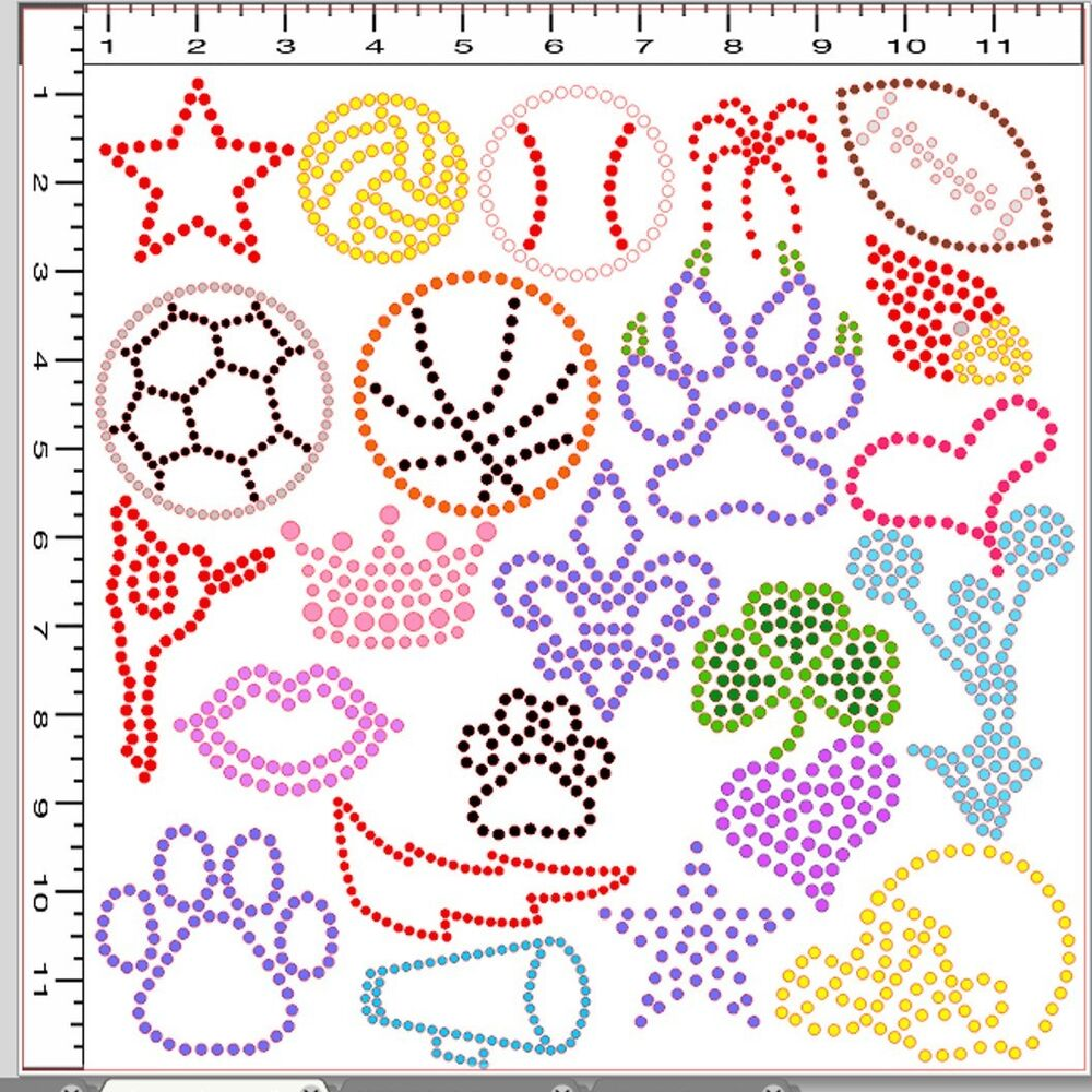 Diy pre cut sticky flock hotfix rhinestone template cheer for Sticky flock pre cut templates