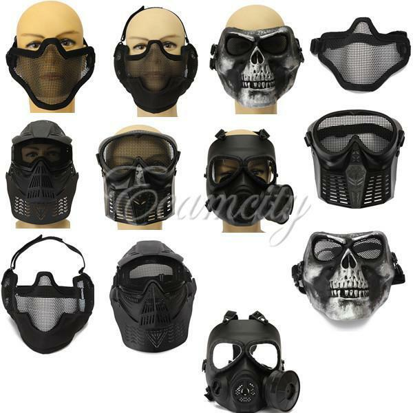 Tactical Face Protection Safe Gear Mask Guard for CS ... Paintball Gear And Protection