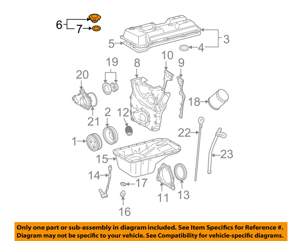 4 3l v6 engine diagram toyota oem 95-97 tacoma 3.4l-v6-engine oil filler cap ... 1999 toyota tacoma 3 4 l v6 engine diagram #8