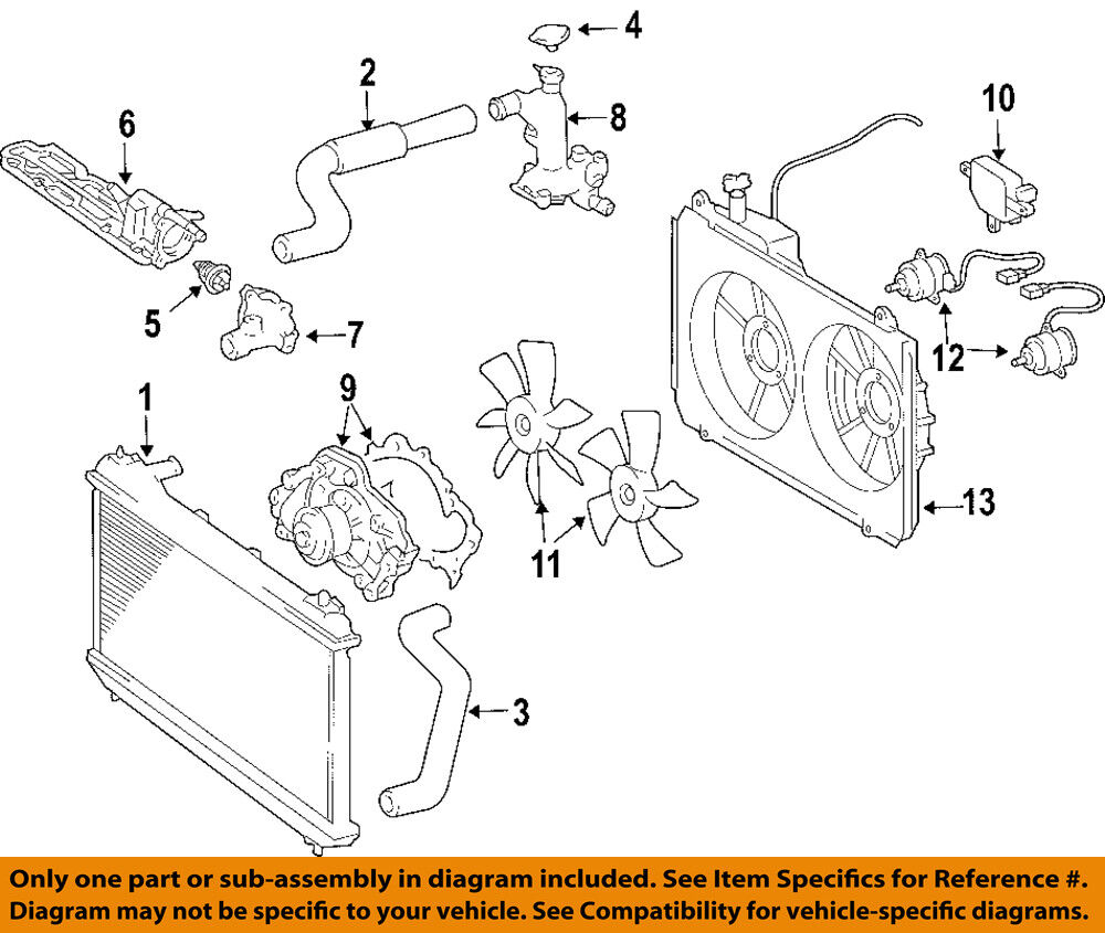 TOYOTA OEM 04-06 Sienna Cooling System-Water Outlet ...
