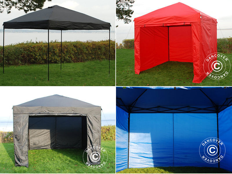pop up gazebo 3m x 3m garden canopy folding easy up tent marquee market stall ebay. Black Bedroom Furniture Sets. Home Design Ideas