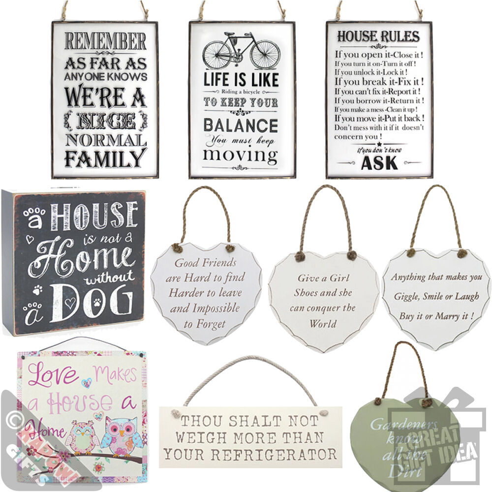 Cool Kitchen Signs: Vintage Signs Wall Plaques Hanging Shabby Chic Cool Retro