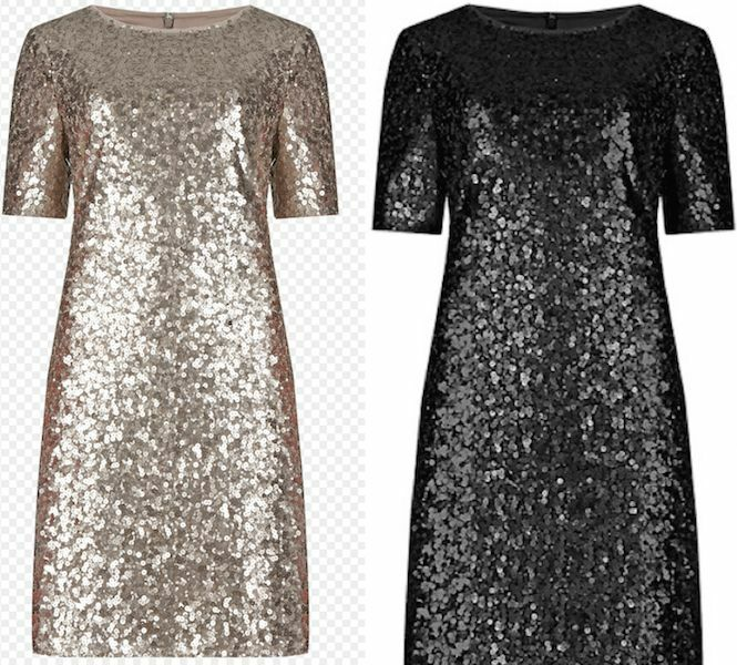 MARKS AND SPENCER EXCLUSIVE ALL OVER SEQUIN GOLD AND BLACK