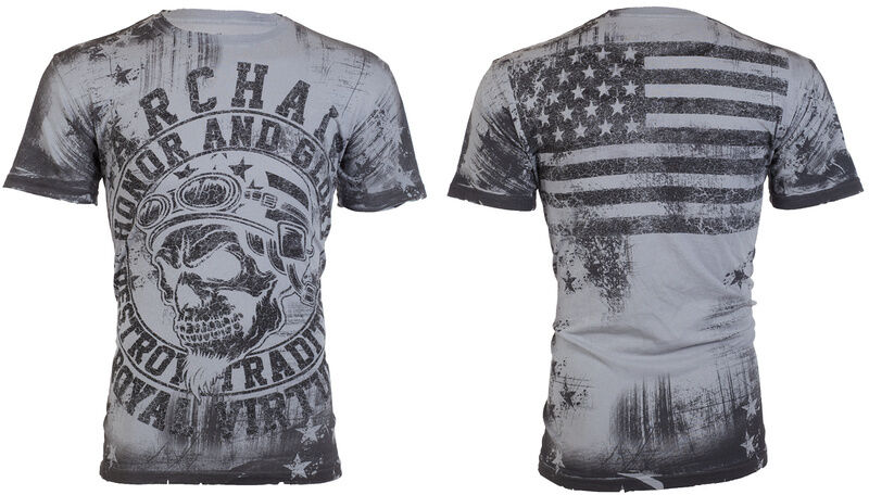 Archaic affliction men t shirt racer american customs usa for Mens affliction t shirts