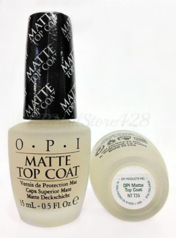 opi matte top coat nail nt t35 matte top coat for nail 0 5oz 30593