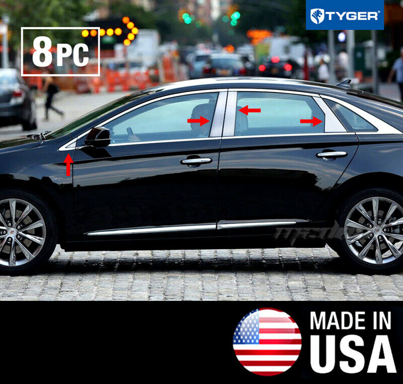 TYGER Fits 2013-2015 Cadillac XTS 8PC Stainless Steel