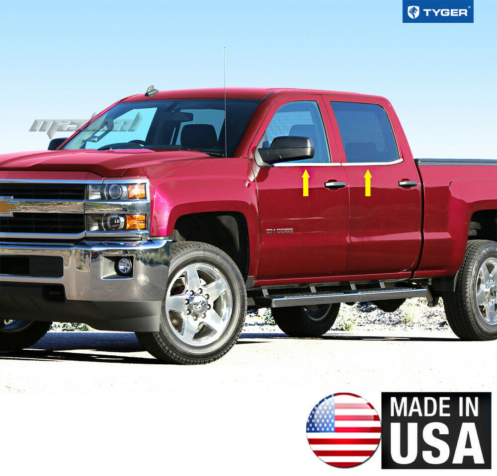 Gmc Canyon Extended Cab Chrome Body Side Molding 2015: TYGER Fits 14-2015 Chevy/GMC Silverado/Sierra Double Cab