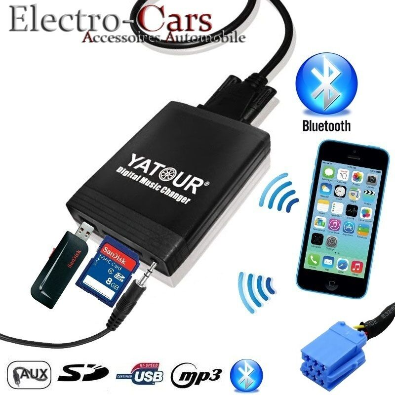 interface usb bluetooth adaptateur mp3 autoradio compatible renault clio ebay. Black Bedroom Furniture Sets. Home Design Ideas