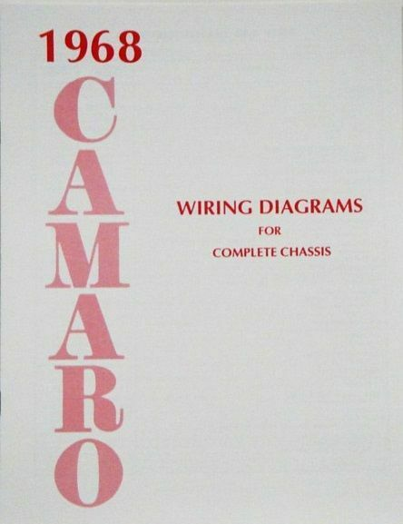 68 1968 chevrolet camaro electrical wiring diagram manual ebay. Black Bedroom Furniture Sets. Home Design Ideas