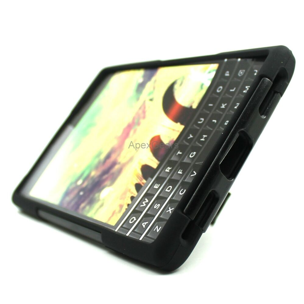Case Design cell phone case that charges : ... Passport Black Y Stand Duo Layer Hybrid Hard Soft Cover Case : eBay