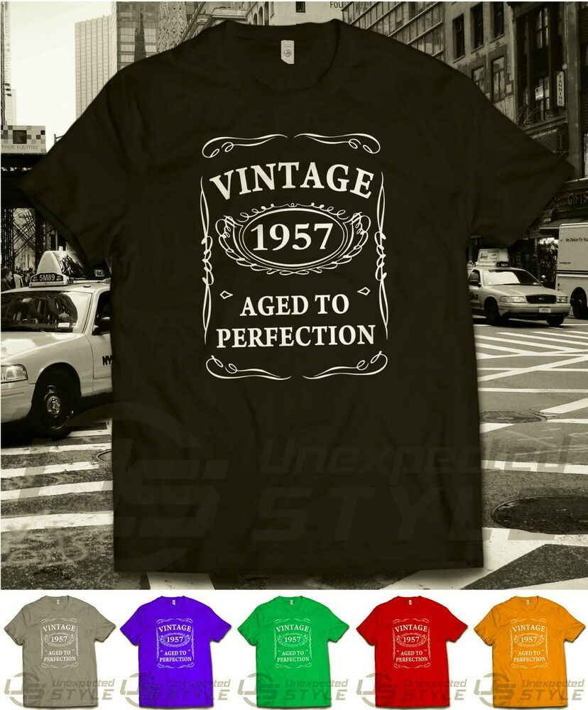 TO PERFECTION T Shirt 60th BIRTHDAY Present Gift 60 Years Old