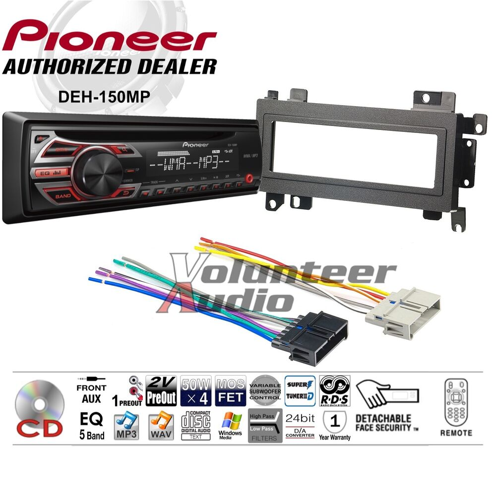 Pioneer Car Radio Stereo Cd Player Dash Install Mounting