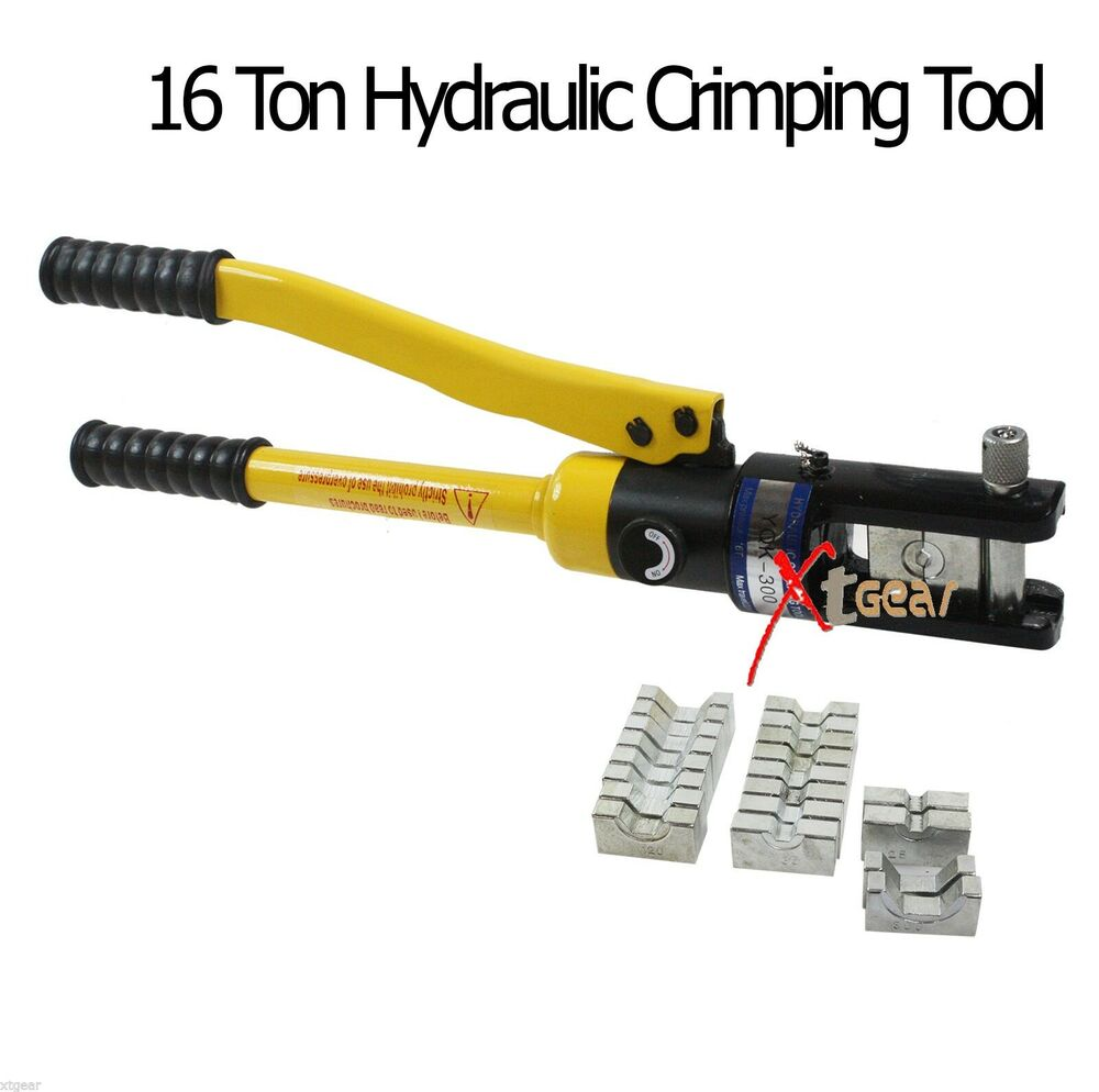 new 16 ton hydraulic wire terminal crimper battery cable lug crimping tool ebay. Black Bedroom Furniture Sets. Home Design Ideas