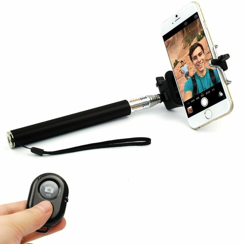 universal extendable handheld remote shutter monopod selfie stick iphone samsung ebay. Black Bedroom Furniture Sets. Home Design Ideas