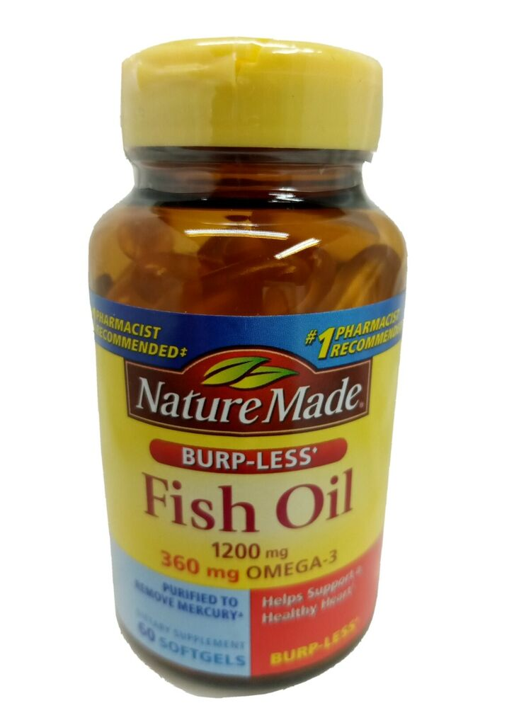 nature made fish oil less burpless omega 3 1200mg 360mg
