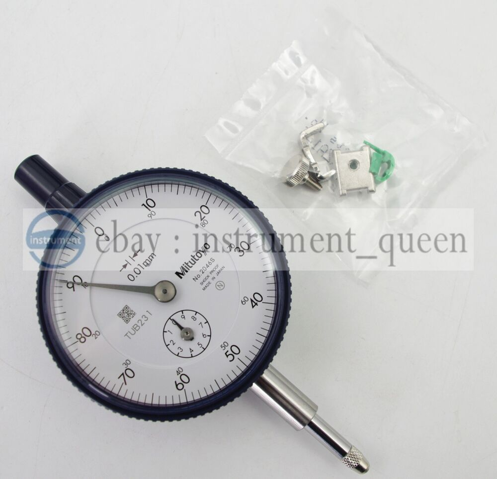 Long Indicator Contacts : Mitutoyo sb dial indicator m thread mm stem