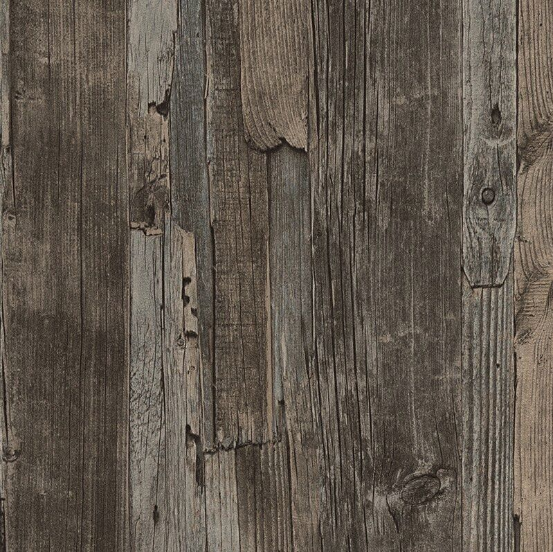 I Love Wallpaper Wood Effect : French Provincial Rustic Timber Wood Effect Wallpaper in Dark Grey/Brown - 10M eBay