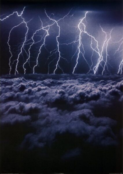 (LAMINATED) ELECTRIC STORM LIGHTNING CLOUDS POSTER ...